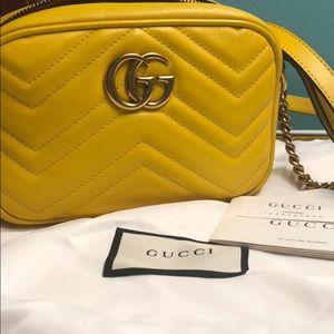 Authentic Gucci Marmont Mini Crossbody Bag